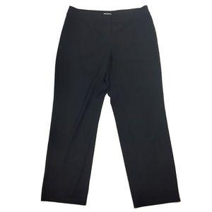 J. Jill Petite Black Stretch Straight Leg Pants